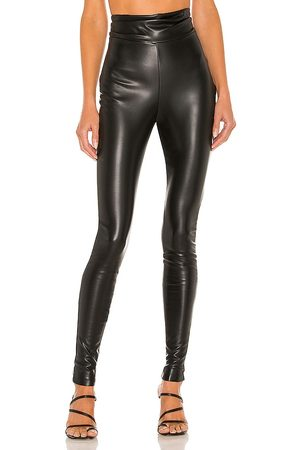 Nookie Viktoria Faux Leather Pants in - Black. Size L (also in XS, S, M).