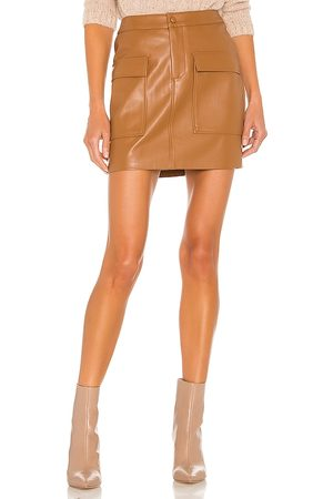 Steve Madden Leather Too Late Skirt in - Tan. Size 0 (also in 2, 4, 6, 8, 10).