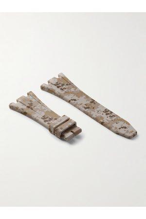Horus Watch Straps Homem Relógios - Deployment 42mm Camouflage-Print Rubber Watch Strap