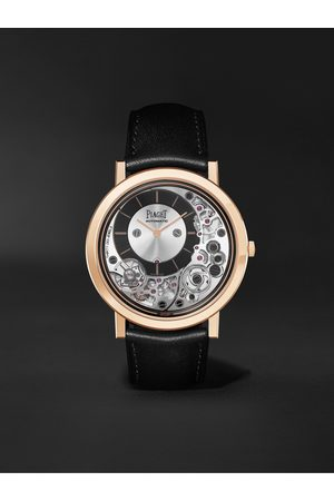 PIAGET Homem Relógios - Altiplano Ultimate Automatic 41mm 18-Karat Rose Gold and Leather Watch, Ref. No. G0B43120