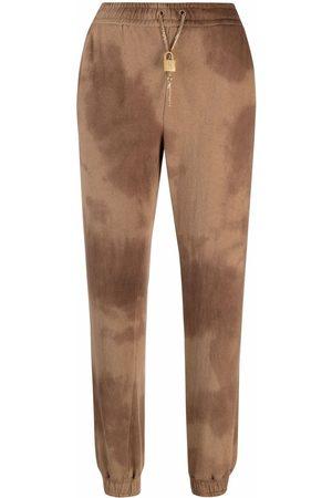 Pinko Mulher Calças - Tie-dye track trousers