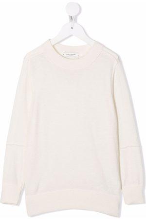 Paolo Pecora Kids Fine-knit ribbed-trim jumper