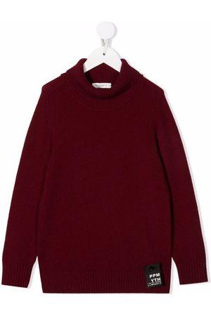 Paolo Pecora Kids TEEN roll-neck merino wool jumper