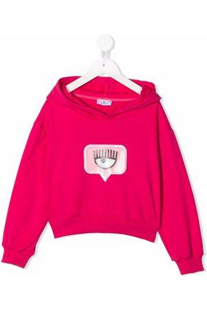 Chiara Ferragni Menina Camisolas com capuz - Logo-print cotton hoodie