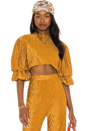 House of Harlow X REVOLVE Sevigny Top in - Mustard. Size L (also in XXS, XL).