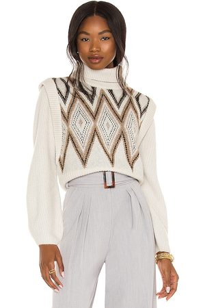 House of Harlow X REVOLVE Allegra Turtleneck in - Ivory. Size L (also in S, XS, M, XXS, XL).