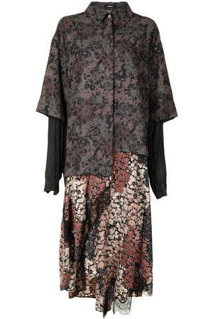 Goen.J Mulher Vestidos Casual - Floral-print layered dress