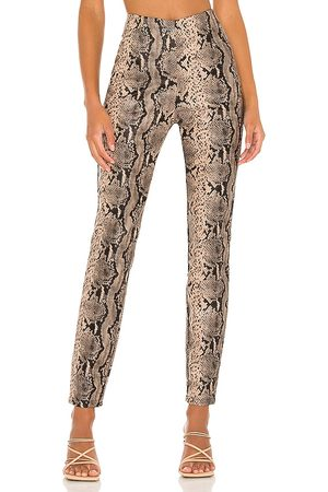 superdown Donna Snake Pant in - Taupe. Size L (also in M, S, XL, XS, XXS).