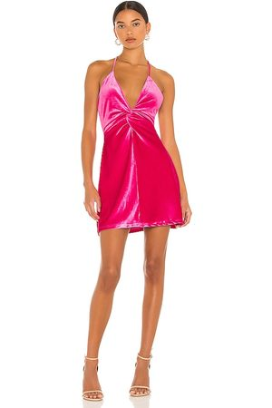 MORE TO COME Kimmie Mini Dress in - Fuchsia. Size L (also in M, S, XL, XS, XXS).
