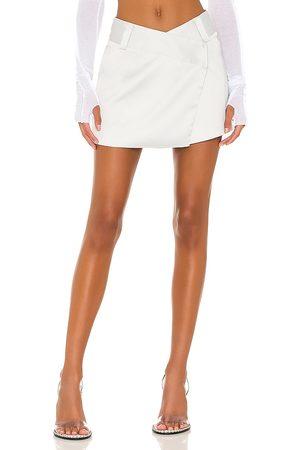 superdown Alana Mini Skirt in - Light Grey. Size L (also in M, S, XL, XS).