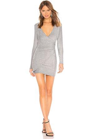 superdown Laurie Wrap Dress in - Metallic . Size L (also in M, S, XS, XXS).