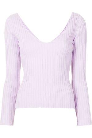 Anna Quan Mulher Camisolas - Elsa ribbed-knit cotton jumper