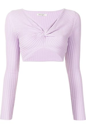 Anna Quan Mulher Tops de Cavas - Pascale ribbed-knit twisted top