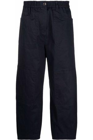 PS Paul Smith Mulher Calças à Boca-de-sino - Cropped wide-leg trousers
