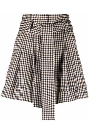 P.A.R.O.S.H. Tied-waist check-print shorts