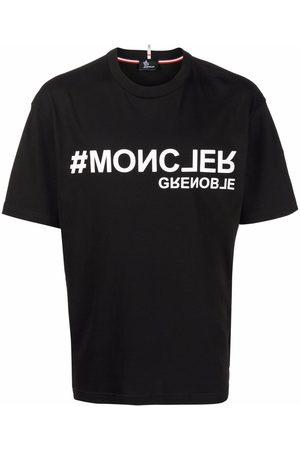 Moncler Grenoble Homem T-shirts & Manga Curta - Logo-print T-shirt