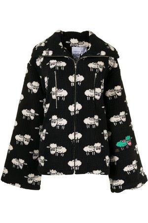 Natasha Zinko Sheep-print fleece jacket