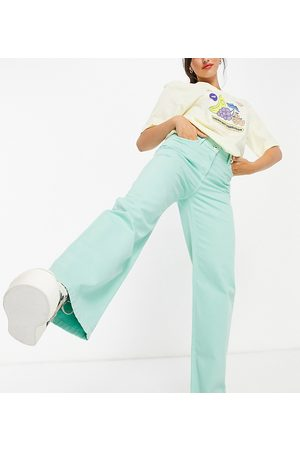 Collusion Mulher Boyfriend - X014 90s baggy extreme dad jeans in mint-Green