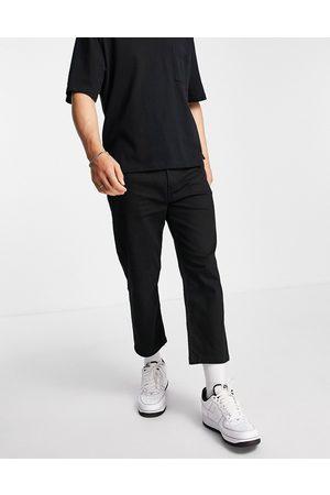 HUGO Homem Jeans - 338 relaxed crop jeans in black