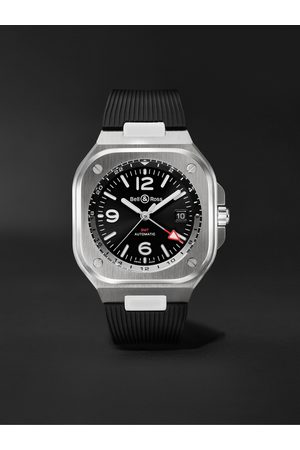 Bell & Ross Homem Relógios - GMT Automatic 41mm Stainless Steel and Rubber Watch, Ref. No. BR05G-BL-ST/SRB