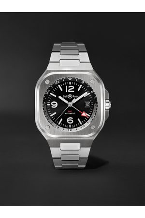 Bell & Ross Homem Relógios - GMT Automatic 41mm Stainless Steel Watch, Ref. No. BR05G-BL-ST/SST