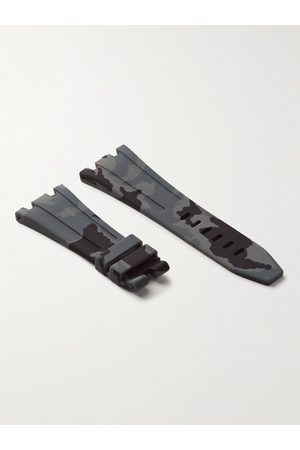 HORUS WATCH STRAPS Homem Relógios - Tang 42mm Camouflage-Print Rubber Watch Strap