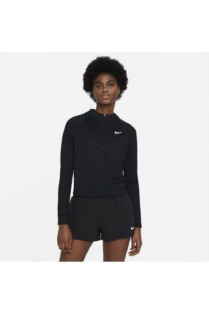 Nike Mulher Sweatshirts de Manga larga - Camisola de ténis de manga comprida com fecho até meio Court Dri-FIT Victory para mulher