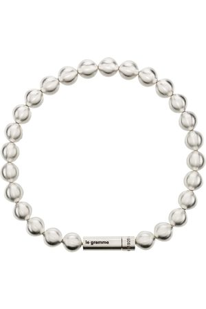 Le Gramme Homem Pulseiras - Le 47g brushed bead bracelet
