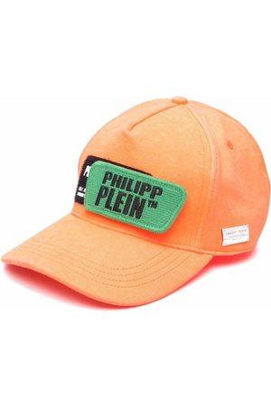 Philipp Plein Distressed logo patch cap