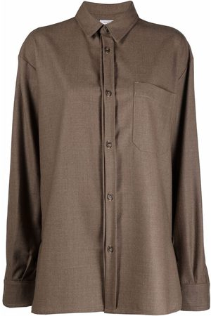 Société Anonyme Button-down knit shirt