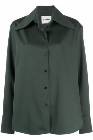 Jil Sander Mulher Camisas - Pointed-collar knitted shirt