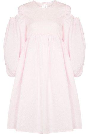 Cecilie Bahnsen Mulher Vestidos Casual - Janessa puff-sleeves midi dress