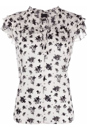Pinko Floral-print short-sleeved blouse