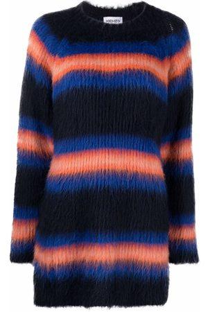Kenzo Striped knitted jumper dress