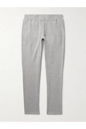Sid Mashburn Homem Calças Justas - Slim-Fit Tapered Cotton-Jersey Sweatpants