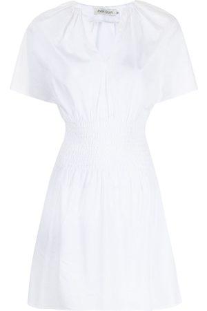 Anna Quan Brielle smocked-waist cotton dress