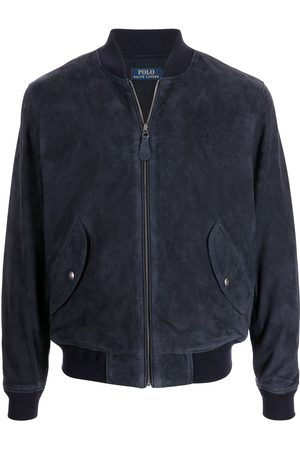 Polo Ralph Lauren Embroidered-logo suede bomber jacket