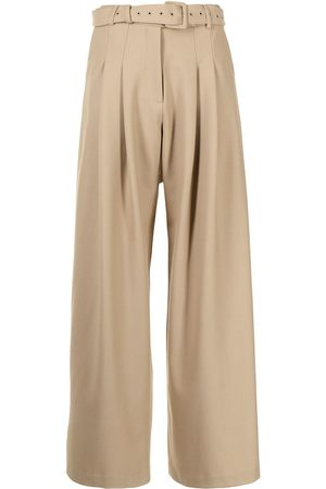 Anna Quan Carlos belted wide-leg trousers