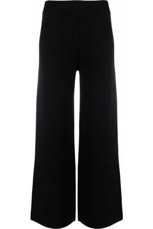 Maje High-rise flared trousers