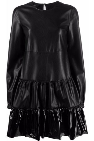 Pinko Double-breasted faux-leather jacket