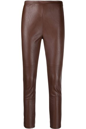 Pinko High-shine faux-leather leggings