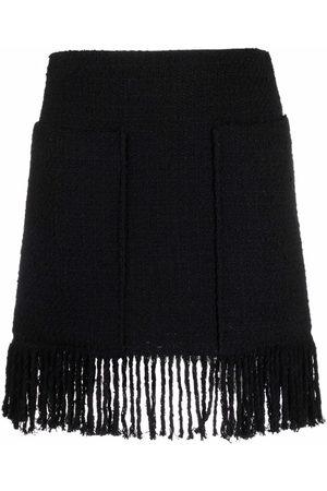 Pinko Causeway fringed tweed skirt