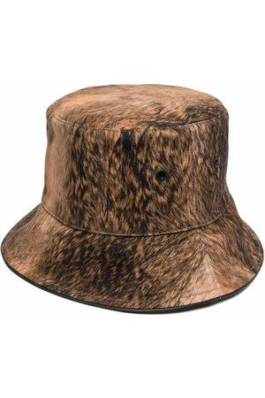 Burberry Mulher Chapéus - Fur print bucket hat