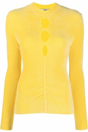 Msgm Cut-out chenille long-sleeve top