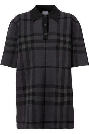 Burberry Check-print polo shirt