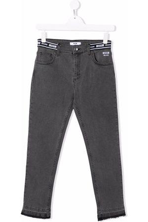 Msgm TEEN logo skinny jeans