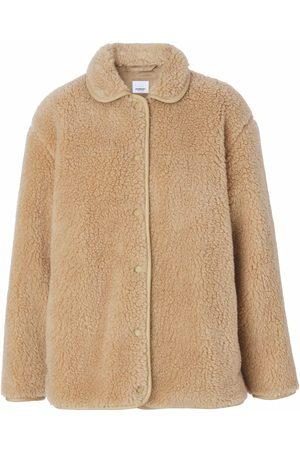 Burberry Mulher Polares - Fleece-texture long-sleeve jacket