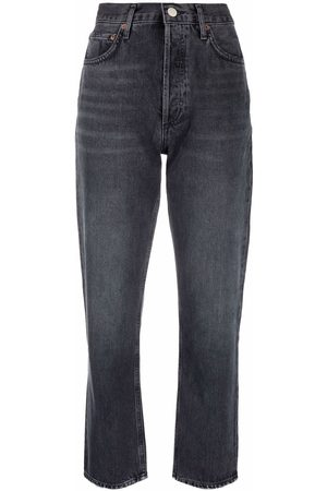 AGOLDE Tapered-leg cropped jeans