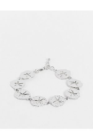 DesignB London DesignB multi coin bracelet in silver