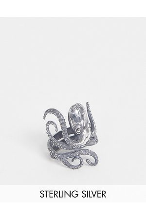 ASOS Homem Anéis - Sterling silver ring with octopus